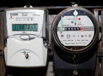 Индукционный и электронный счетчик