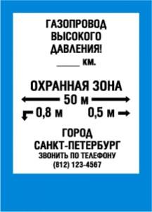 Пример обозначения охранной зоны