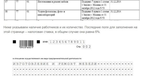 Идентификационный код сферы деятельности